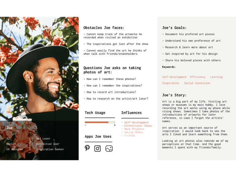 Persona for UX Design Project user experience persona ui ux
