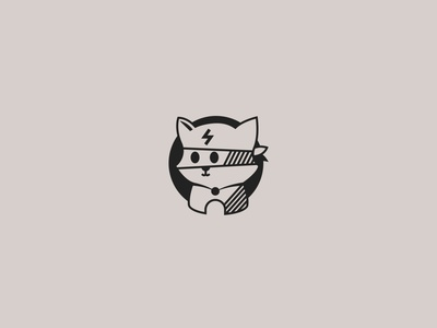 super cat minimal illustration icon flat logo branding