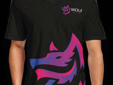 Wolf Logo strength template dog nature background face design mascot graphic emblem vector wild animal illustration sign symbol icon head logo wolf