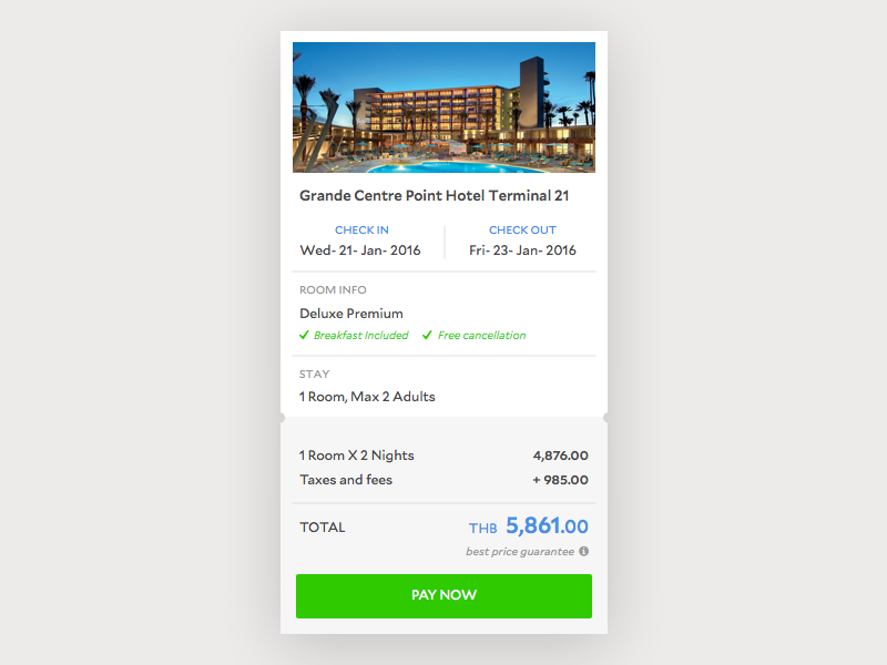 Hotel Booking Check Out By Liya Li On Dribbble