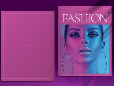 Pink Fashion Magazine Layout advertising branding lookbook fashion minimalist clean professional modern catalogue catalog magazine template print design printing printable print indesign adobe us lettter a4