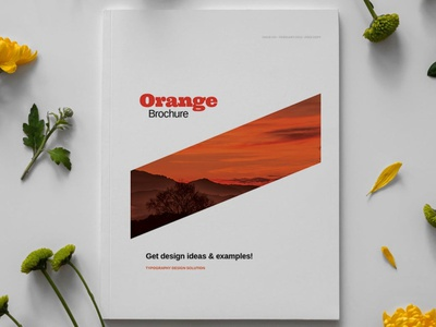 Orange Brochure Layout Template report annual annual report orange portfolio photography minimalist clean professional modern catalog magazine template printable print indesign adobe usletter us letter a4