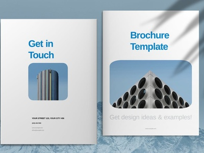 Blue Business Brochure Layout business catalog template brochure portfolio magazine business catalog brochure