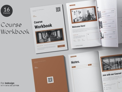 The Course Workbook | Minimal minimal free download psd course workbook print modern clean catalog template indesign magazine socialmedia social job workbook course report annual
