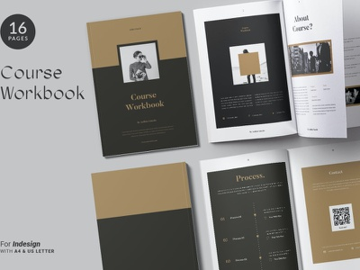 The Course Workbook advertising branding lookbook fashion minimalist clean professional modern catalogue catalog magazine template print design printing printable print indesign adobe us lettter a4