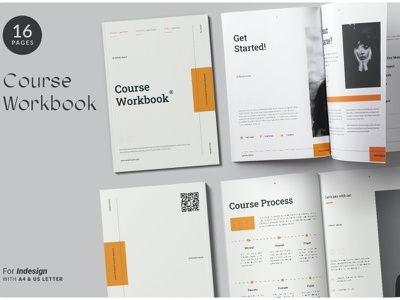 The Course Workbook | Minimal advertising branding lookbook fashion minimalist clean professional modern catalogue catalog magazine template print design printing printable print indesign adobe us lettter a4