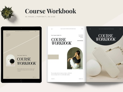 Hera - Workbook Template catalog blog ebook clean template printable marketing social media social free download ebook blog canva workshop print class online webinar course