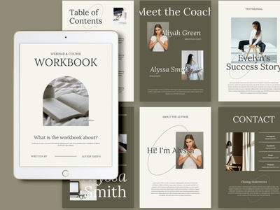 Taraman - Workbook Creator catalog blog ebook clean template printable marketing social media social free download ebook blog canva workshop print class online webinar course