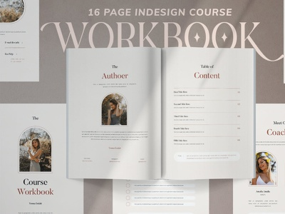 The Course Workbook catalog blog ebook clean template printable marketing social media social free download ebook blog canva workshop print class online webinar course