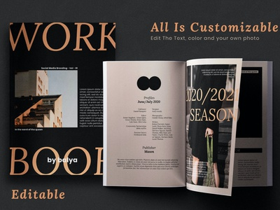 Workbook vol 1 - Magazine Template catalog blog ebook clean template printable marketing social media social free download ebook blog canva workshop print class online webinar course
