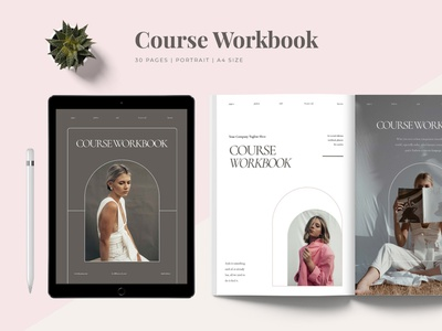 Workbook Template modern indesign magazine printable marketing social media social free download blog ebook canva workshop print class online webinar course
