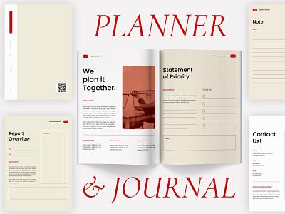 Planner & Journal journal planner clean template printable marketing social media social free download ebook blog canva workshop print class online webinar course