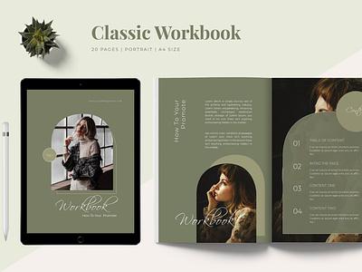 Classic - Workbook Template catalog blog ebook clean template printable marketing social media social free download ebook blog canva workshop print class online webinar course