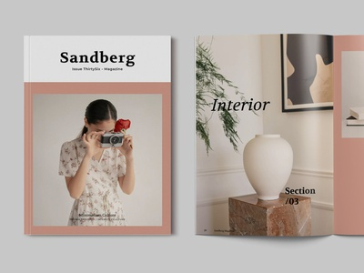 Magazine Template minimal modern ebook webinar branding logo motion graphics graphic design 3d animation magazine indesign printable catalog clean print template