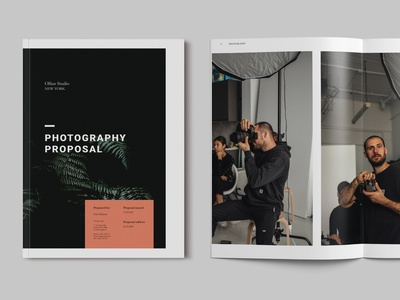 Photography Proposal Template logo modern minimal blog ebook webinar illustration design magazine indesign printable catalog print clean template