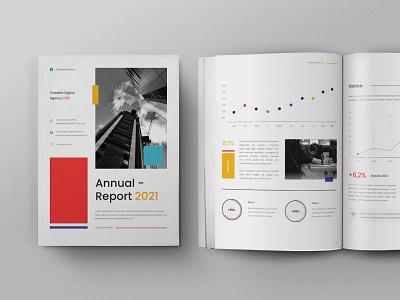 Annual Report ebook online webinar logo illustration design motion graphics graphic design 3d animation magazine indesign printable catalog print clean template