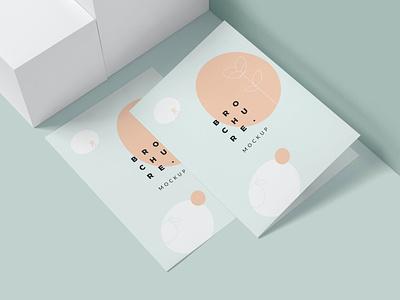 Bi Fold Brochure Mockups modern minimal online webinar illustration design magazine indesign printable catalog print clean template mockup brochure bifold