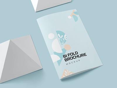 Two Fold Brochure Mockups modern brochure bussines bifold minimal mockup illustration design magazine indesign printable catalog print clean template