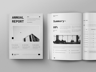 Annual Report 2021 branding logo motion graphics graphic design 3d animation annual business catalog business business report annual report magazine indesign printable catalog print clean template