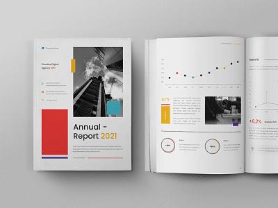 Annual Report illustration design magazine indesign printable branding logo motion graphics graphic design 3d animation catalog print clean template annual report report annual