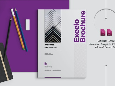 Business Brochure report annual report annual logo illustration design magazine indesign printable catalog print clean template