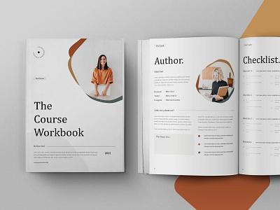 Course Workbook online webinar workbook course design motion graphics graphic design 3d animation magazine indesign printable catalog print clean template