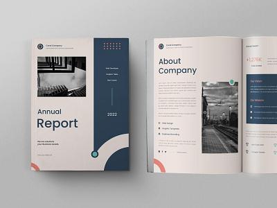 Annual Report 2021 logo illustration design magazine print indesign printable catalog clean template report annual