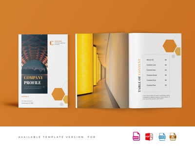 Company Proposal Template illustration design magazine indesign branding logo motion graphics graphic design 3d animation printable catalog print clean template proposal company