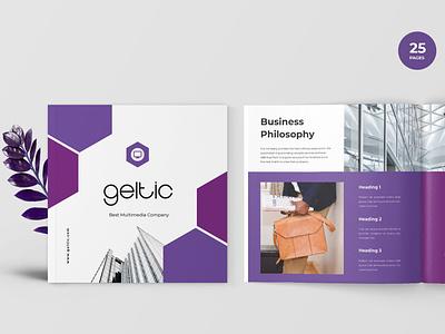 Geltic - Business Portfolio Template branding motion graphics graphic design ui 3d animation logo illustration design magazine indesign printable catalog print clean template bussines