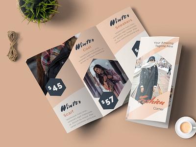 Fashion Trifold Brochure branding motion graphics graphic design 3d animation ui logo illustration design magazine indesign printable catalog print clean template brochure trifold