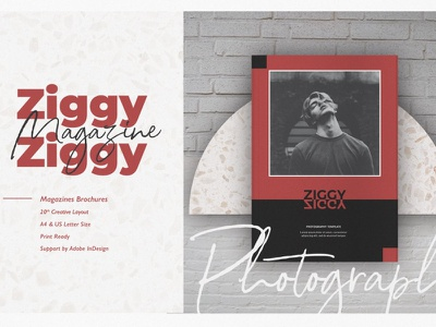 Ziggy Photography Template branding motion graphics graphic design 3d animation ui logo illustration design magazine indesign printable catalog print clean template
