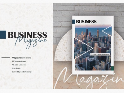 Business Magazine branding motion graphics graphic design 3d animation ui logo illustration design indesign printable catalog print clean template magazine business