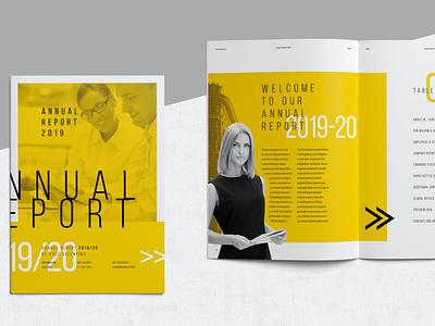Annual Report lookbook brochure business business portfolio motion graphics graphic design catalog print clean template annual report annual report
