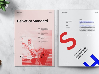 HELVETICA - Magazine Template colorful fashion lookbook lifestyle motion graphics graphic design illustration modern design branding indesign magazine printable clean photography catalog print annual report template annual