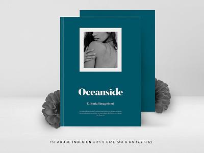 Oceanside Editorial Imagebook design indesign magazine printable catalog print clean template business brochure portfolio book imagebook minimal modern simple photograpy lifestyle lookbook editoral