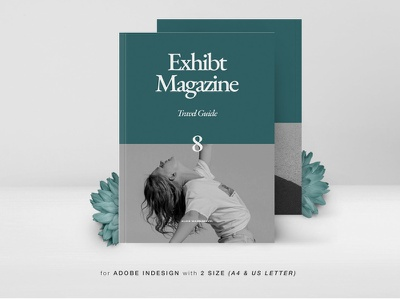 Exhibt Travel Guide Magazine simple modern minimal editoral photography lifestyle fashion lookbook motion graphics graphic design design indesign magazine printable catalog print clean template guide travel