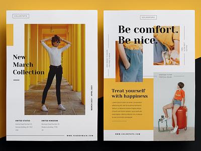 Fashion Flyer annual annual report lifestyle minimal editoral lookbook business catalog brochure portfolio minimalist professional modern design indesign magazine catalog printable clean print template