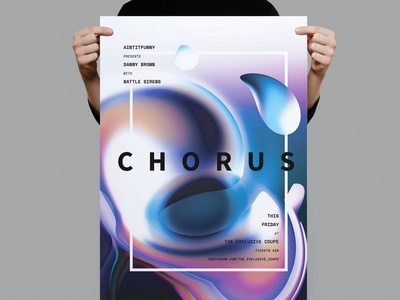 Chorus Poster / Flyer futuristic clean poster poster modern poster minimal chorus poster chorus flyer simple flyer clean flyer template illustration design indesign magazine catalog printable clean print template flyer poster