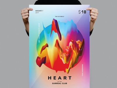 Heart Flyer / Poster Template portfolio annual report photography lifestyle minimal lookbook editoral annual catalog magazine illustration design indesign magazine catalog printable clean print template poster flyer