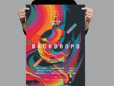 Backdrops Poster / Flyer club disco colorful music dj summer flyer backdrops design indesign magazine catalog printable clean print template gradient flyer poster presentation flyer poster