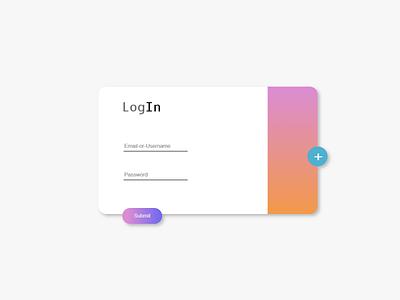 Log-in form web ui webdesign