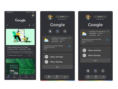 Google app Redesign ux ui