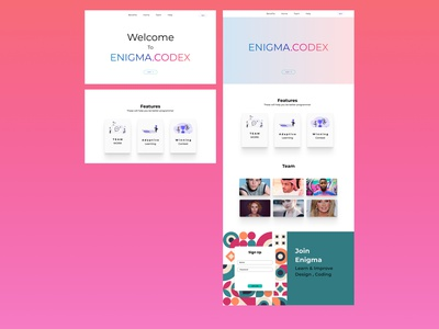 enigma codex website webdesign web minimal design ux ui