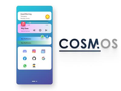 COSM OS HomeScreen minimal design ui