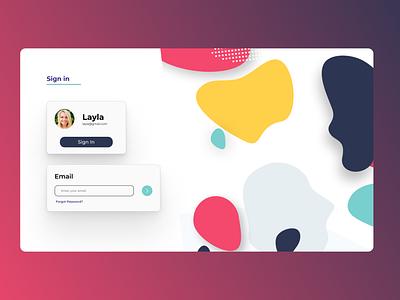 Log-In webdesign minimal design ui