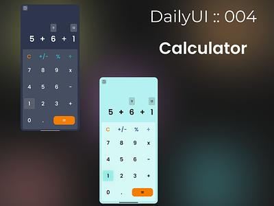Daily UI :: 004 Calculator dailyuichallenge dailyui daily 100 challenge daily ui minimal design ui