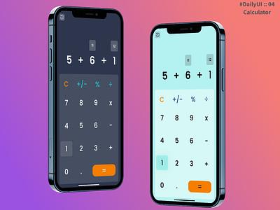 Daily UI :: 04 Calculator calculator dailyuichallenge dailyui daily 100 challenge daily ui minimal design ui