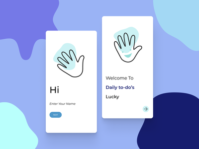 App intro minimal design ui