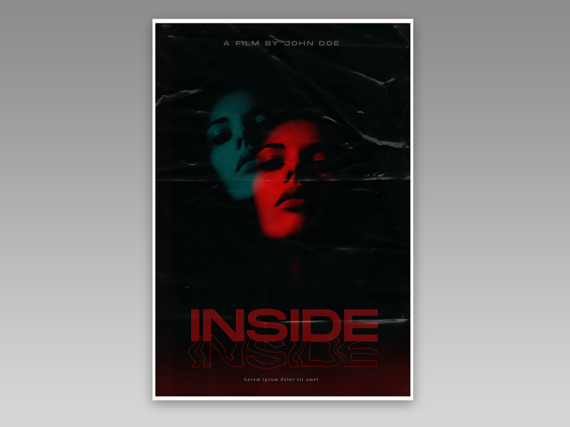 Movie Poster double exposure inside cinema horror horror movies movie poster poster art poster design poster minimal typography illustration design branding