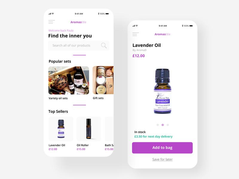 Aromatherapy Shopping App